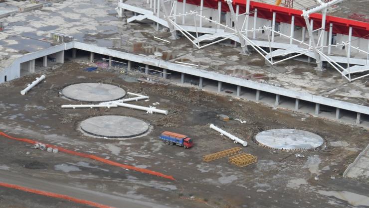 Trabzıon stadı bitti bitiyor