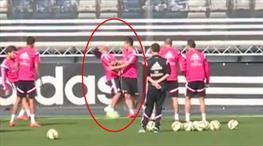 Real Madrid antrenmanında olay görüntü!