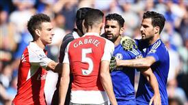 Dev maçta gergin anlar! Arsenal 10 kişi!