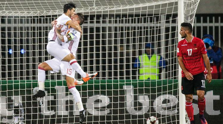 Arnavutluk: 0 - İspanya: 2