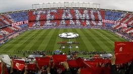 Atletico Madrid taraftarlarından koreografi şov! (FOTO GALERİ)