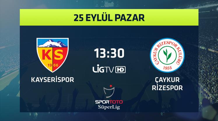 Kayserispor - Ç. Rizespor (CANLI)
