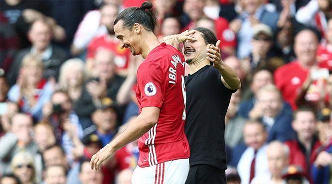 Zlatan'ın ikizi Old Trafford'da