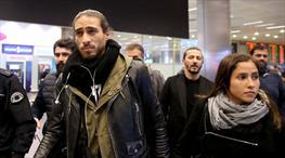 Trabzonspor'un yeni transferi Martin Caceres, İstanbul'a geldi