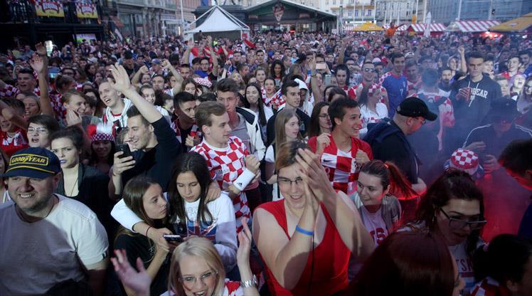Hırvat taraftarların Dünya Kupası coşkusu